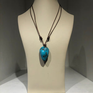 XLG Turquoise Stone Necklace