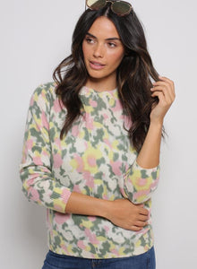 Peony Watercolor Printed Cashmere