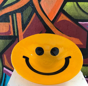 "16"" Yellow Smiley Bowl"