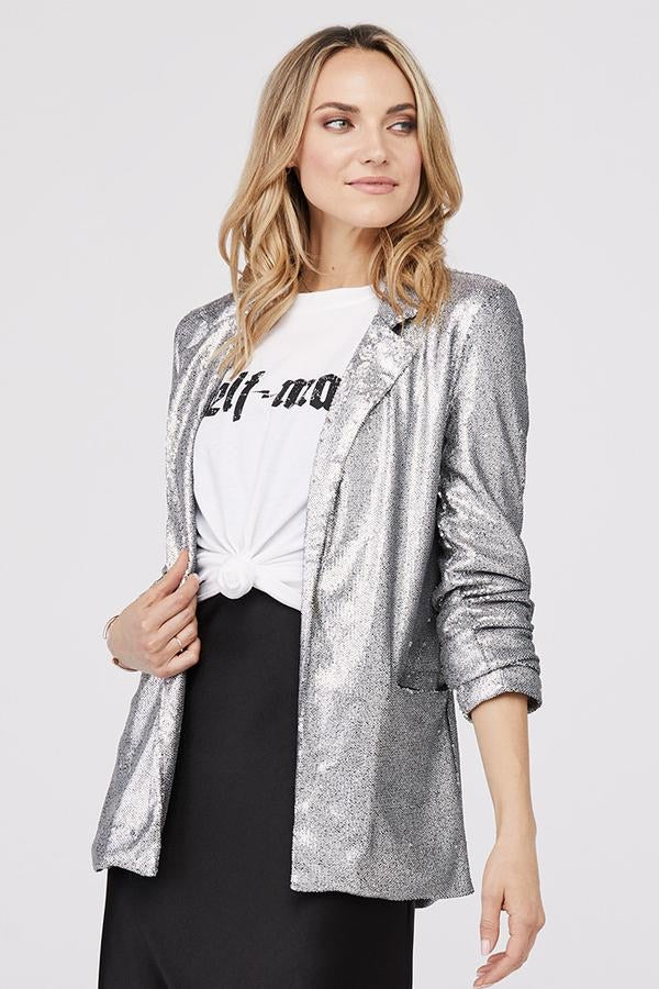 Hailey Oversized Sequin Blazer