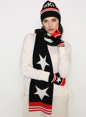 Color Block Star Finger-less Gloves