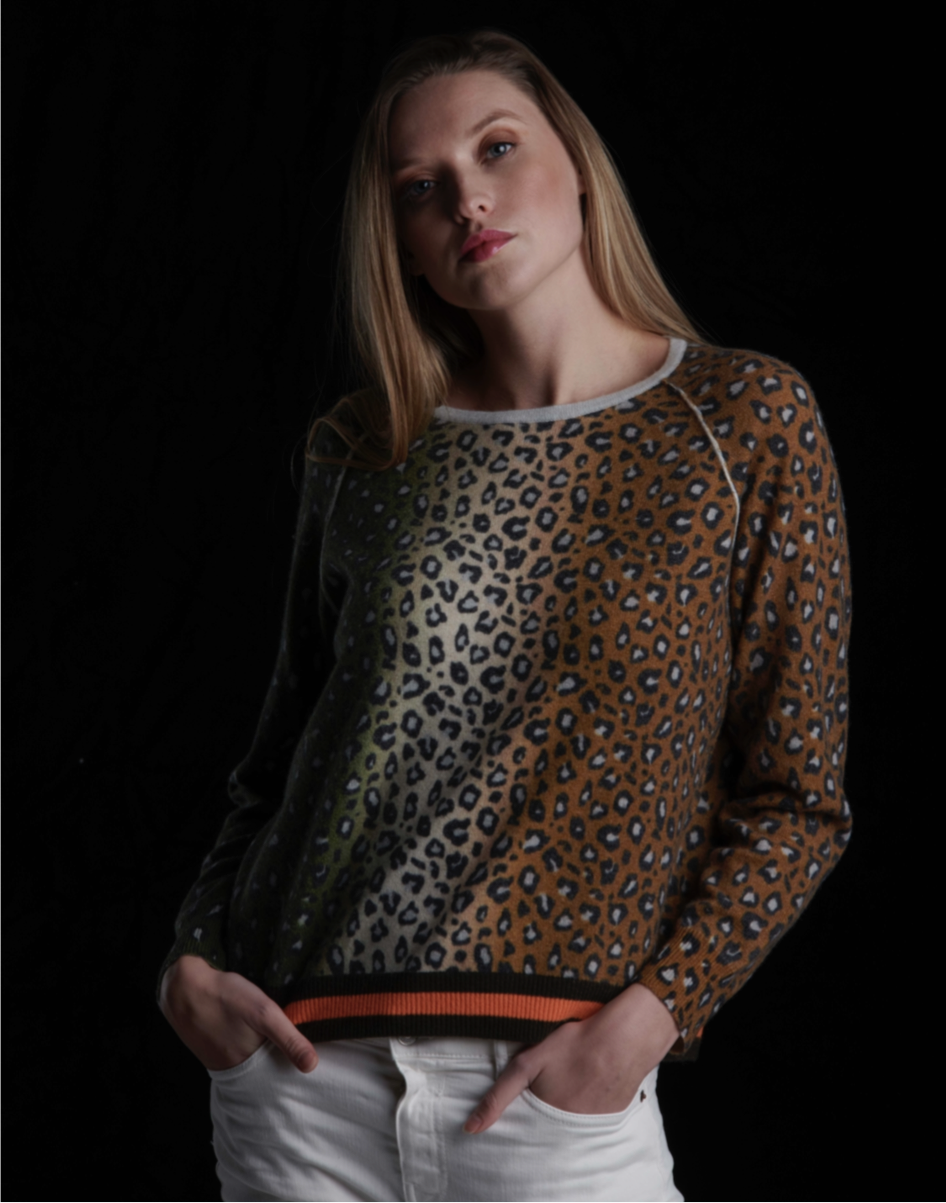 Ombré Leopard Sweater