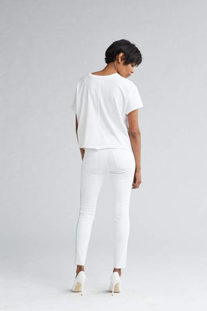 Barbara Ombre Stripe White Denim