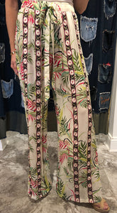 Beaded Palm Leaf Pant