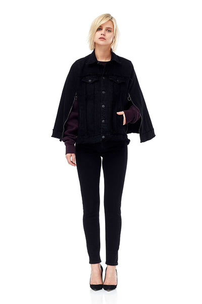 Black Denim Cape