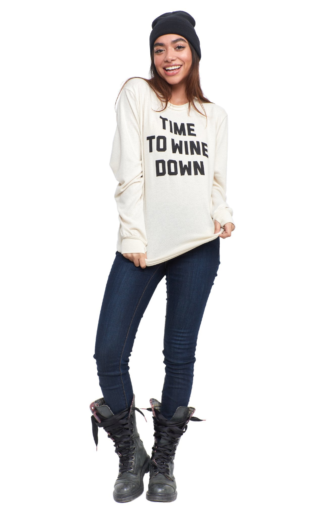 WINE DOWN SWEATSHIRT