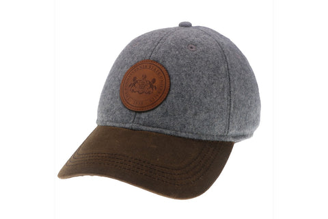 Wool Baseball Cap with Penn State Leather Seal