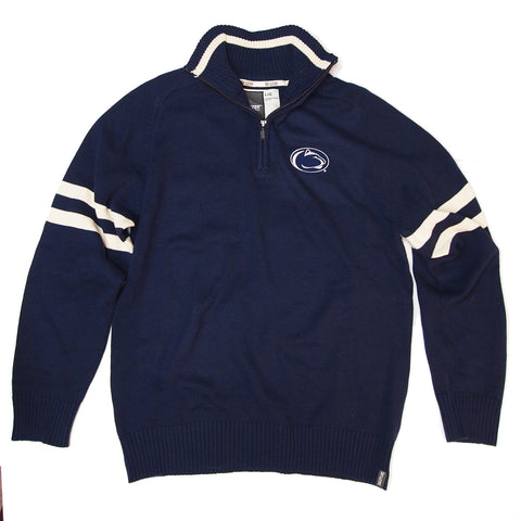 Collegiate Navy 1/4 Zip Sweater
