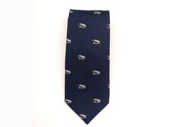 Penn State Accessories - Necktie, Solid Navy with Nittany Lion Logo