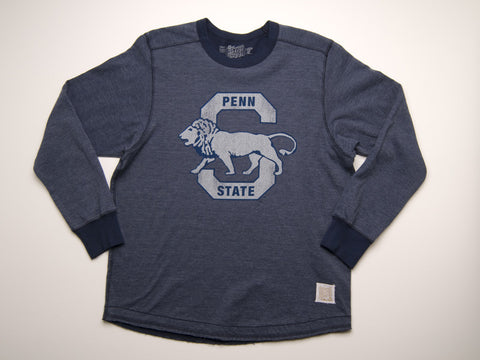 Penn State Deconstructed Navy Heritage Lion Logo T-shirt