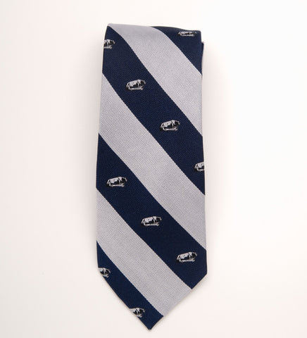 Penn State Accessories - Tie with Lion Logo Striped Regimented