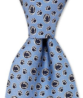 Penn State Vineyard Vines Tie with Lion Logo and Paw Print