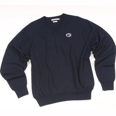 Peter Millar Merino Wool Long Sleeve V Neck Sweater with Penn State logo
