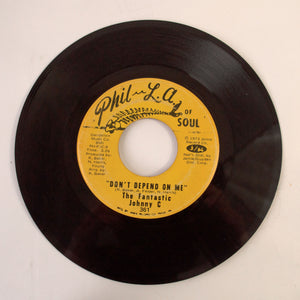 The Fantastic Johnny C. ‎– Don't Depend On Me / Waitin' For The Rain - 7 inch Vinyl