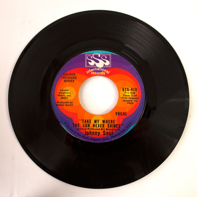 Johnny Soul ‎– I Almost Called Your Name / Take Me Where The Sun Never Shines- 7 inch Vinyl