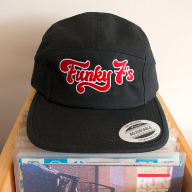 Funky 7's - Dr Diggns - Five Panel Embroidered Cap (Black)