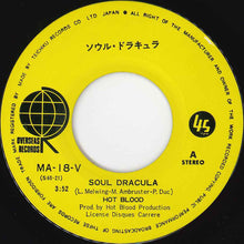 Load image into Gallery viewer, Hot Blood ‎–  Soul Dracula / Sans Dracula -  7 inch Vinyl