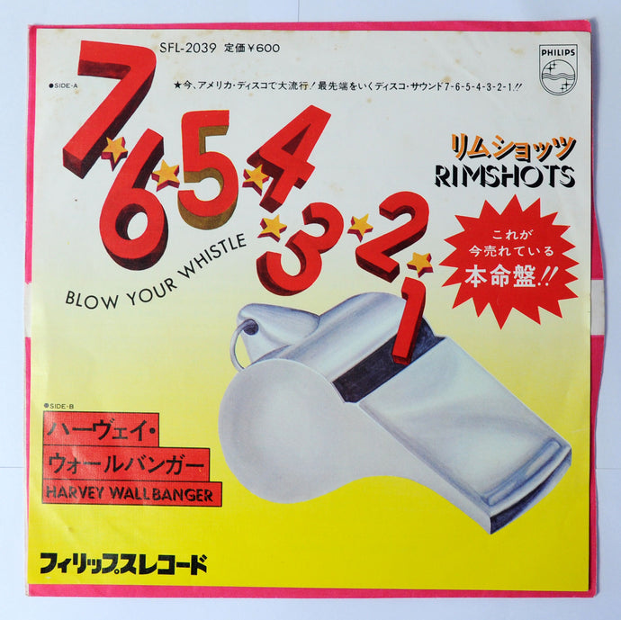 Rimshots ‎– 7-6-5-4-3-2-1 Blow Your Whistle/ Harvey Wallbanger - 7 inch vinyl