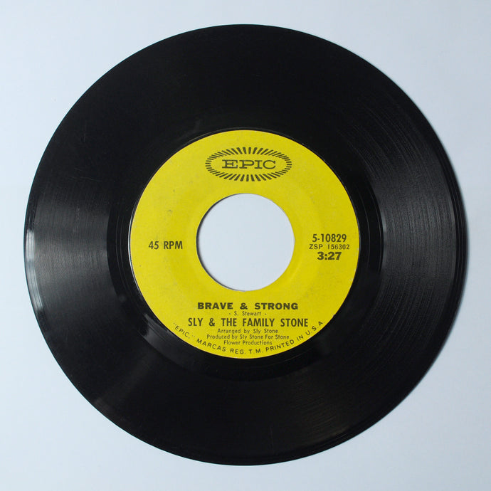 Sly & The Family Stone ‎– Runnin' Away / Brave and Strong - 7 inch Vinyl