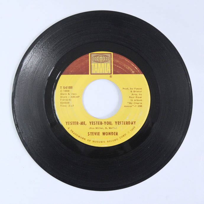 Stevie Wonder ‎– Yester-Me, Yester-You, Yesterday / I'd Be A Fool Right Now - 7 inch Vinyl
