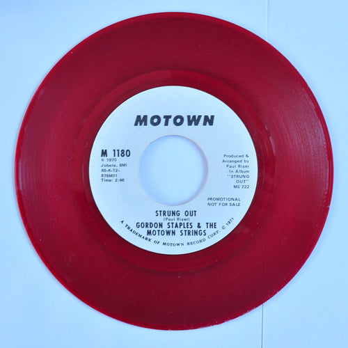 Gordon Staples & The Motown Strings ‎– Strung Out (promo) - 7 inch Single