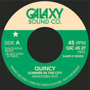 "Summer in the City Re Mastered/Epilog Drum Break Edits-Galaxy Sound Co⭐︎  7"" Vinyl"