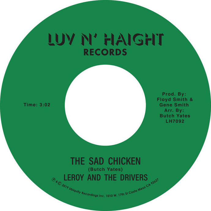 Leroy And The Drivers ‎– The Sad Chicken - 7 inch Vinyl