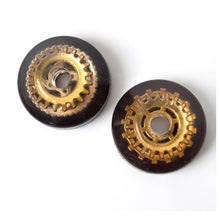 Load image into Gallery viewer, Analogue 007 Black and Gold 45rpm adapter SET of 2