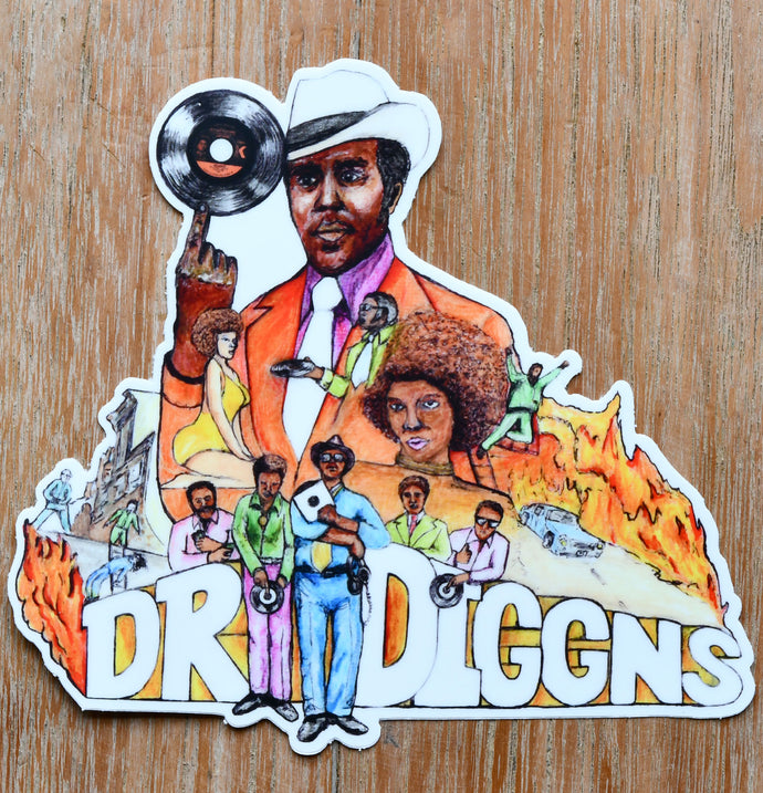 Dr Diggns - Die cut sticker