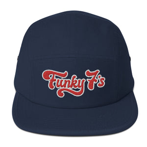 Funky 7's - Dr Diggns - Five Panel Embroidered Cap (Blue)