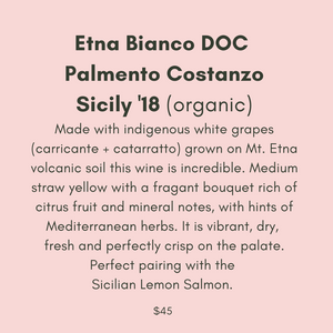 ADD ON: Bottle of Palmento Costanzo Etna Bianco