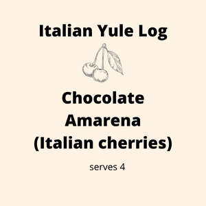 ADD ON: Italian Yule Log - Chocolate Amarena (Cherry) Serves 4