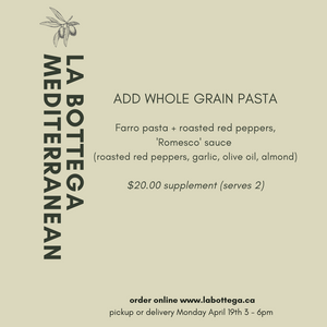 ADD ON: WHOLE GRAIN ORGANIC Pasta for Two