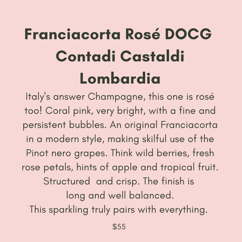 ADD ON: Bottle of Contaldi Castaldi Franciacorta Rose