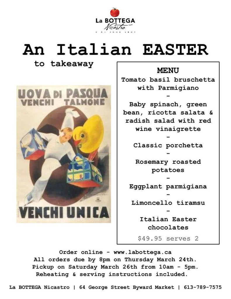An Italian Easter to Takeaway