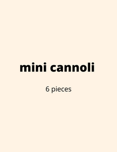 ADD ON: Mini Cannoli (6)