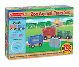 Melissa & Doug Wooden Zoo Animal Train Set