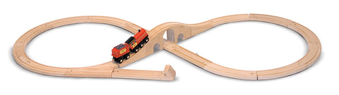 Melissa & Doug Wooden Railway Figure 8 Train Set