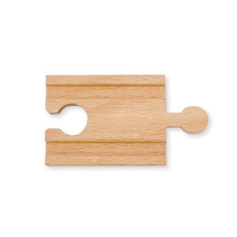 2-inch Wooden Railway Adapter Track Piece