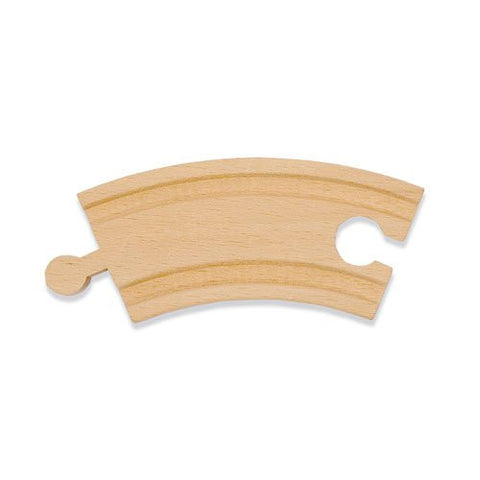 3 1/4 inch Curved Wooden Railway Track Piece