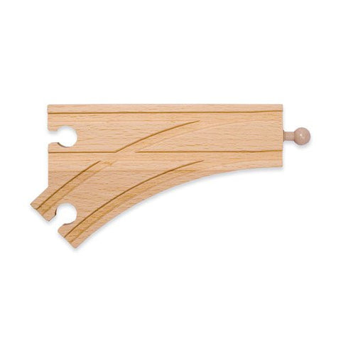 6-inch Curved Female Wooden Railway Switch