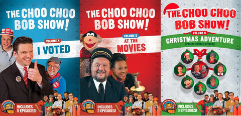 The Choo Choo Bob Show! DVD BUNDLE: Volumes 4 - 6