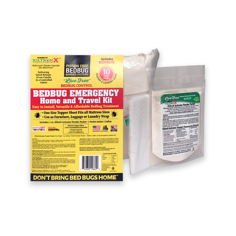 Live Free Bedbug Emergency Home & Travel 3 Piece Kit