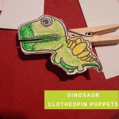 Dinosaur Party Game - Dinosaur Clothespin Puppets