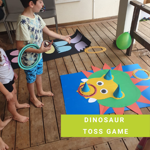 Dinosaur Party Game - Dinosaur Toss Game