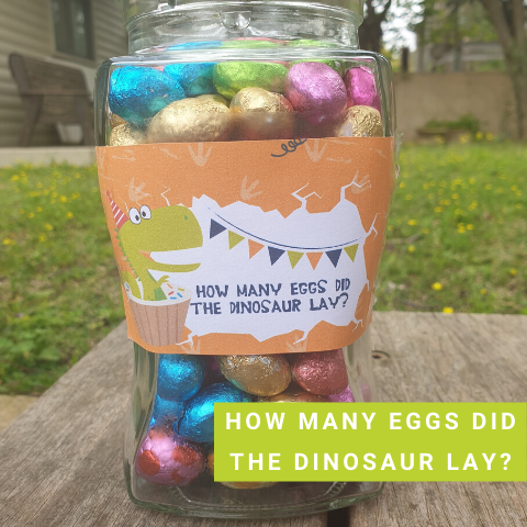 Dinosaur Party Game - How Many Eggs Did the Dinosaur Lay
