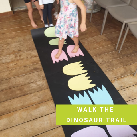 Dinosaur Party Game - Walk The Dinosaur Trail