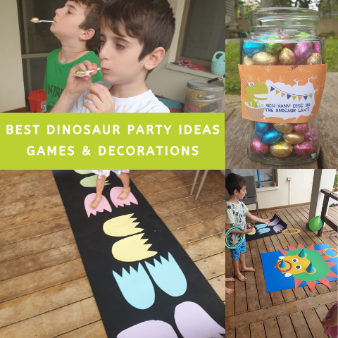 Dinosaur Party Ideas games and decorations