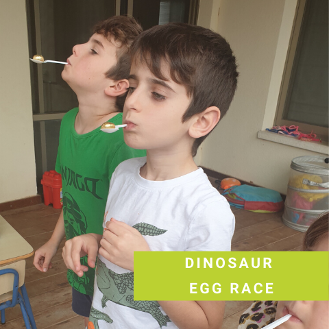 Dinosaur party Game - Dinosaur Egg Race