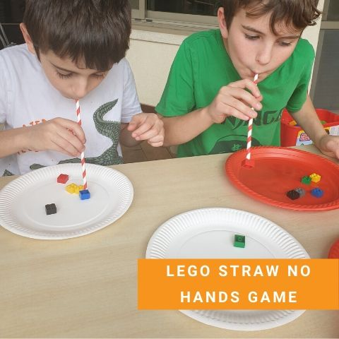Lego party Games - Lego Straw No Hands Game